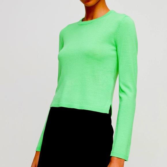 Aritzia Lime green top